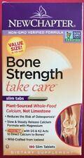 New Chapter Bone Strength 180 Slim Tabs Plant Source Calcium Exp 12/2019