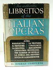 1940s Authentic Librettos ITALIAN OPERAS Rigoletto La Traviata Aida Don Gio HCDJ