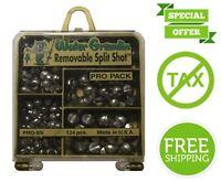 Water Gremlin Removable Split Shot Pro Soft Lead Pack 48ea/BB 36ea/3/0 16ea/7