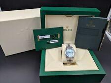 Rolex Day-Date 36MM Platinum President Glacier Blue Brand New w/ B&P LussoTime