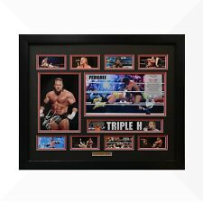Triple H WWE Signed & Framed Memorabilia - Black/Red Limited Edition