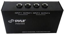 New Pyle PHE300 Compact DJ/Studio 2-Channel Hum/Noise Destroyer Headphones Amps