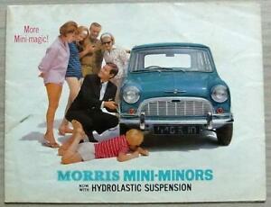 MORRIS MINI MINORS Car Sales Brochure Sept 1964 #H&E 6462