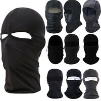 Balaclava Full Face Mask Cycling Motorcycle Outdoor Ski Neck Helmet Hat Black