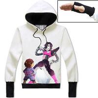 Undertale Chara/Mettaton Pullover Hoodie Unisex Coat Cosplay Sweatshirt#YH-L43
