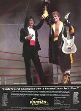 Eddie Van Halen 1988 Kramer Guitars Promo Poster Ad