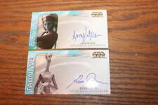 STAR WARS TOPPS AOTC AUTOGRAPHED 2002 WIDEVISION CARDS TAUN WE & AAYLA