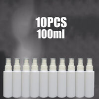 10Pcs 100ml Empty Refillable Plastic Pump Spray Bottle Travel Perfume Atomiser