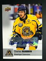 2019-20 Upper Deck CHL Charles Beaudoin Auto