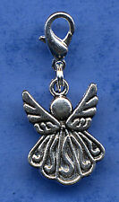 BEAUTIFUL ANGEL DANGLE CHARM, TIBETAN SILVER PRETTY ANGEL CLIP ON CHARM