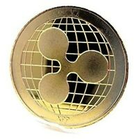 XRP Ripple Cryptocurrency Virtual Currency Gold Plated Coin | BITCOIN