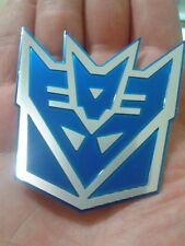 3D Blue Decepticon Transformers auto logo car sticker  badge emblem tail decal