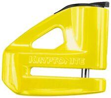 Kryptonite Keeper 5S Motorcycle Scooter Atv Bicycle Mtn Bike Disc Lock Yellow