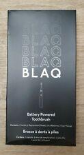 Blaq Battery Powered Toothbrush Handle + 2 Heads Batteries NIB $50