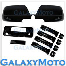14-16 TOYOTA TUNDRA CREWMAX Black Mirror+4 Door Handle+Tailgate+Camera Hol Cover