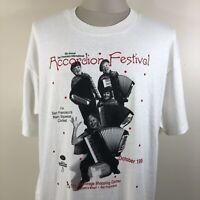 Vintage 90s Accordion Festival T Shirt San Francisco Tee Men's XL