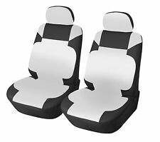 Leather Like 2 Front Car Seat Covers for Mazda 153 Bk/white