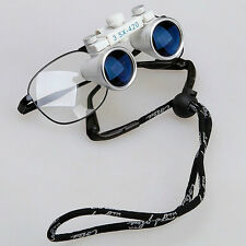 New 1*Dental Surgical Loupes Glasses Medical Binocular Magnifier 3.5X 420mm