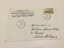 Enveloppe 1er Jour - Première liaison Paris-Lyon par rame postale TGV