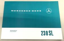 Original Betriebsanleitung Mercedes-Benz W113 230SL Pagode Deutsch/Englisch NEU
