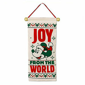 Disney Parks Mickey and Minnie Christmas Door Hanger