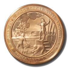 Franklin Mint History of US John Paul Jones 1779 45mm Proof Bronze Medal