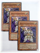 3 x GAROTH, LIGHTSWORN WARRIOR LODT-EN020 yugioh common Warrior card set NM