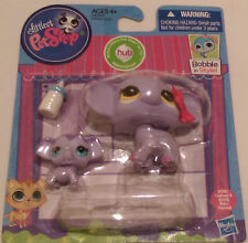 LPS Littlest Pet Shop MOMMY #3597 BABY ELEPHANT #3598 NIP BOBBLE Hasbro 2014