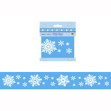 Snowflake Party Tape Christmas Decoration