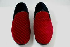 Giorgio Brutini Men's 176270 Chatwal Quilted Wine Velvet Slip-On Loafers Shoes