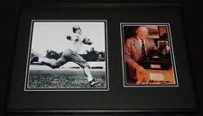 Jay Berwanger Signed Framed 12x18 Photo Display Chicago Heisman Winner