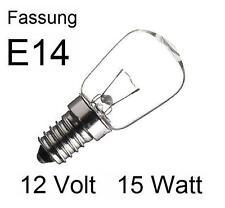 3x Glühlampe Glühbirne Lampe Birne Spezial Ersatz E14 12V 15W klar  432803