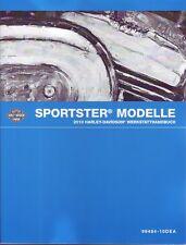 Harley-Davidson Wartungshandbuch 2010 Sportster XL 1200n XR 1200x deutsch Buch