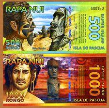 SET Easter Island, 500;1000 Rongo, 2012-2014, Polymer, UNC