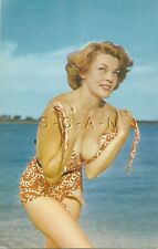 Original Vintage 40s-60s Semi Nude Pinup PC- Maid in Distress- Endowed- Swimsuit