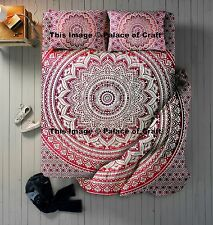 Ombre Mandala Double Bed Set Duvet Doona Cover Bed Sheet & 2 Pillow Cover Indian