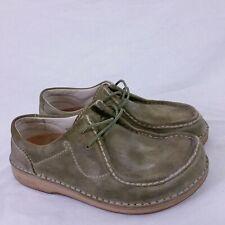 Birkenstock Footprints Suede Leather Lace Up Comfort Shoes Moc Moccasin Walk 38