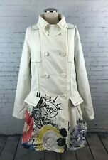Desigual Burnos Aires Coat Size 38 Double Breasted Trench Button Down Jacket EUC