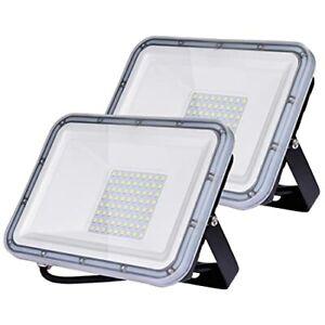 50W Projecteur LED Extérieur 2pcs, 5000LM Éclairage de Sécurité Extérieur, IP67