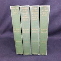 Rudyard Kipling 4 Volumes 1895-1899 Norwood Press Depart Ditties Sea to Sea