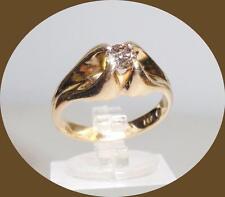 PRETTY ANTIQUE 14K YELLOW GOLD ANTIQUE CHAMPAGNE DIAMOND RING - SIZE 7
