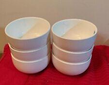 Porcelain Bowls For Dessert Small Side Dishes Set of 6 White