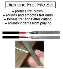 GeetarGizmos DIAMOND FILE SET (2) for Guitar Fret Shaping EDGES GROUND SMOOTH