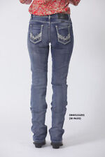 Machine Washable Mid-Rise Boot Cut Jeans for Women