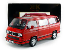 KK SCALE MODELS 1990 VOLKSWAGEN T3 BUS RED of 500 1/18 Scale New Release In Stok