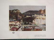 1921 studio stampa ~ Mediterraneo PORTA ACQUA COLORE STANLEY cursiter