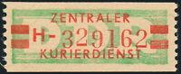 DDR-Dienst, B 31 a II H, Gera, tadellos postfrisch, Befund Ruscher, Mi. 200,-
