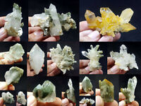 Natural Stunning Lot of Chlorite Quartz Crystals Specimens Pakistan 17Pcs 1.3kg