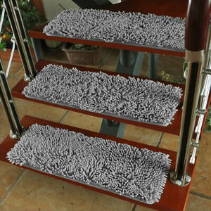 Adsorbable Non Slip Stair Floor Mat Super soft Chenille Rugs Folding Carpet Warm