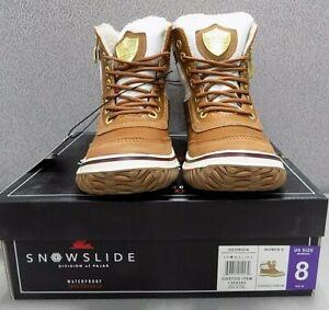 Pajar CANADA Women's Georgia Snowslide Cream Waterproof Leather Boots Size: 8